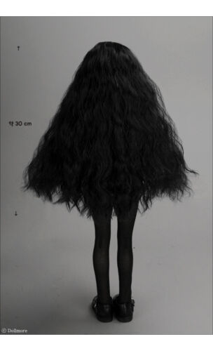 Black DM 1//4 BJD MSD Wig 18-20 cm 7-8 inch NHG Sobazu Wig