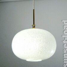 Schaum Glas Pendel Leuchte Doria alte elliptische Hänge Lampe 70er Jahre alt