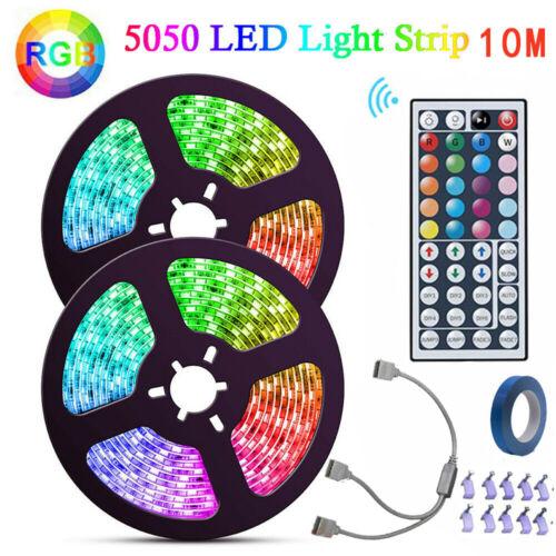 10M RGB 5050 LED Strip Lights With IR Remote Back Light 12V USB Colour Changing