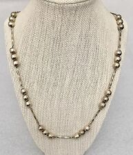 """Taxco Sterling Silver Modernist Bead Necklace 55 Grams 27"""" Long"""