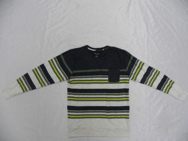 Billabong Tar Stripe  Pullover Fleece Sweater Knit  Shirt Large