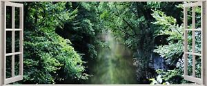 Huge-3D-Panoramic-Exotic-Forest-Window-View-Wall-Stickers-Mural-242