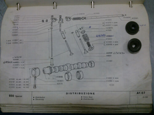 VALVOLE FIAT 850 FIAT 4125001 SCODELLINO SUP