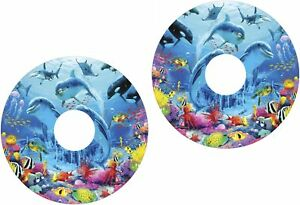 Wheelchair-Spoke-Guard-Skins-Dolphins-Under-Sea-View-Mobility-Sticker-1126