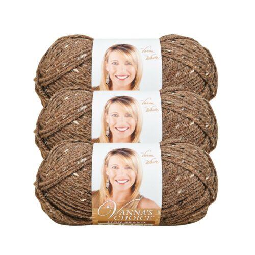 Barley Pack of 3 skeins Lion Brand Yarn 860-403 Vanna/'s Choice Yarn