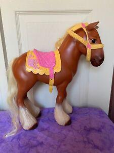 Rare Disney Princess Plastic Brown Pony Horse Beauty The Beast Belle Philippe Ebay
