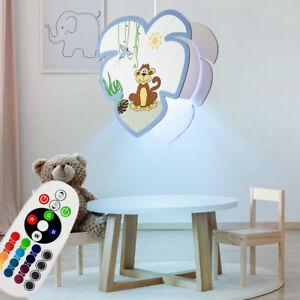LED Hänge Lampe Dimmer Affen Motiv bunt Kinder Spiel Zimmer RGB FERNBEDIENUNG