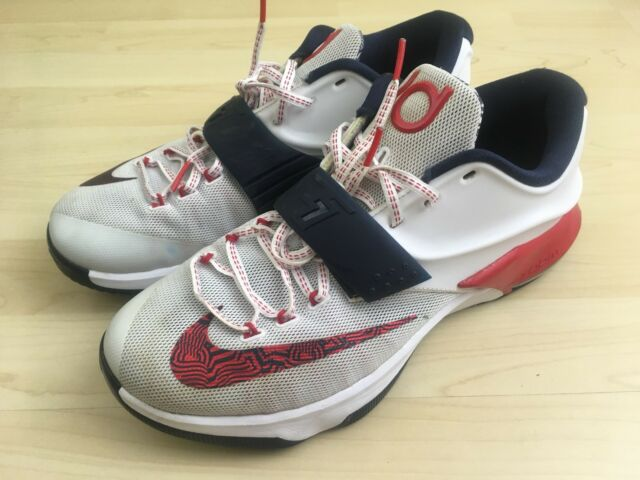 best sneakers 17e49 76ceb ... inexpensive nike kd 7 usa olympic shoes mens size 10.5 uk 9.5 uk red  white blue