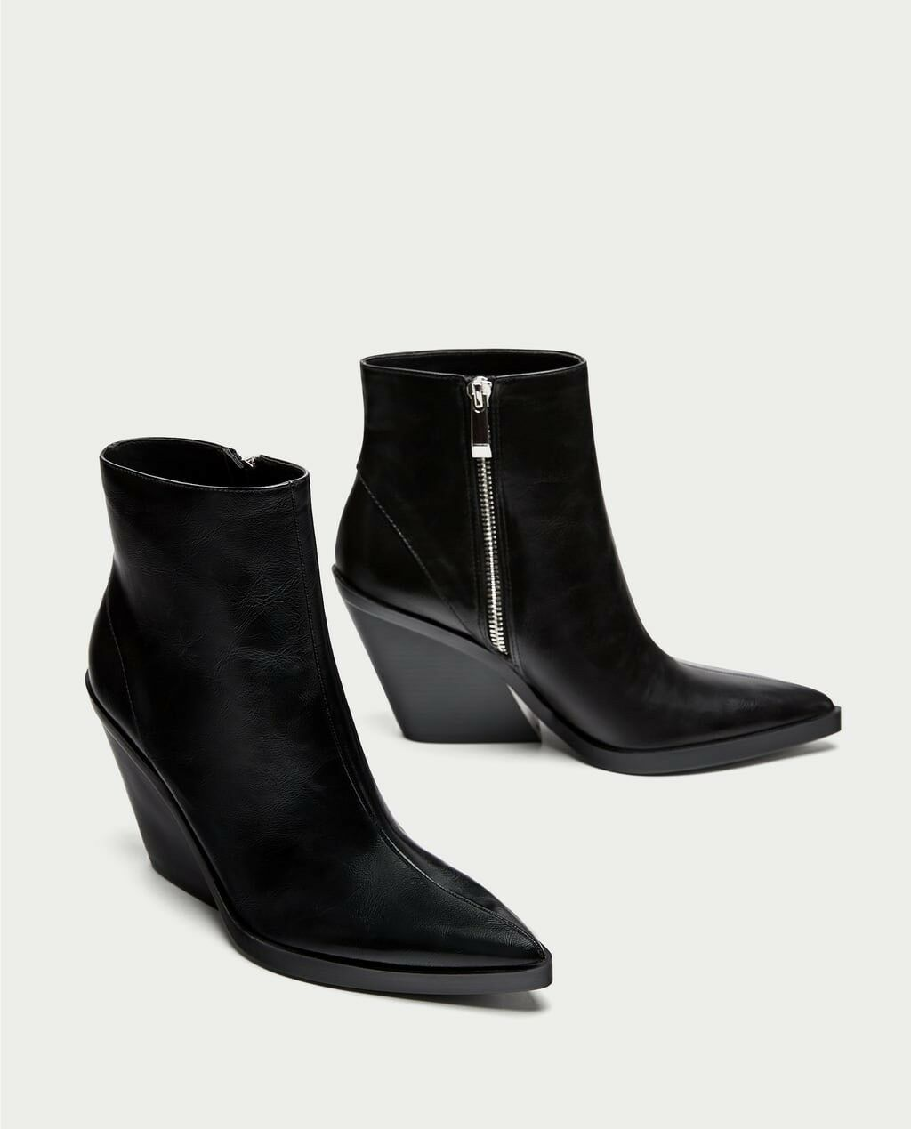 Zara AW17 Women Ankle Stiefel With Thick Sole EUR schuhes Size 8 EUR Sole 39 NWT f57543