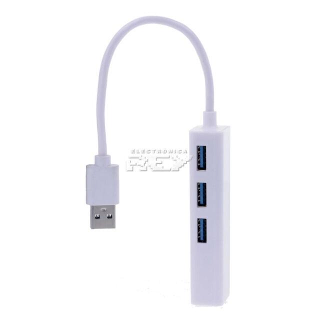 Adaptador USB 3.0 Macho a Red Ethernet RJ45 Tarjeta Red 10/100Mb Conversor v490