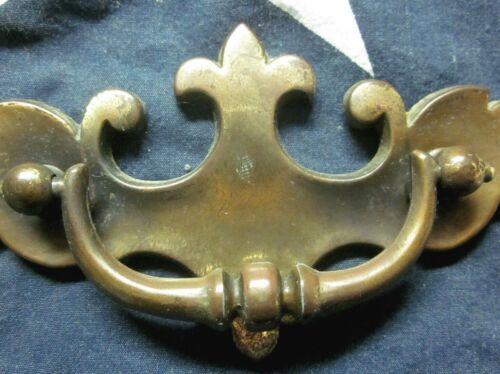 "Drop Bail Pull Handle 1589 Dark Aged Brass 1 Drawer Screw Spread=3/"" Antique"