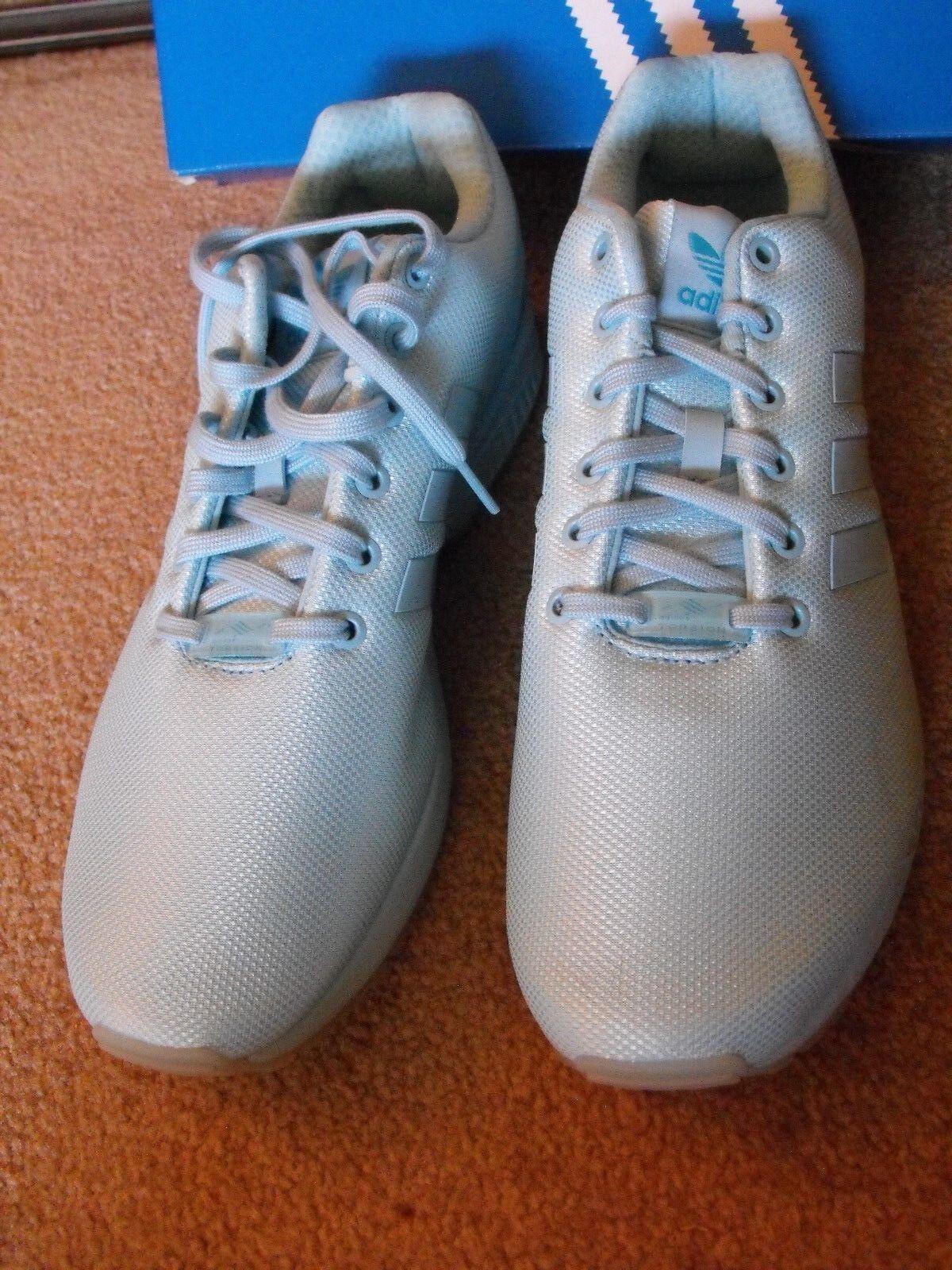 Raro Nuevo En Caja Adidas Adidas Adidas ZX Flux Azul Zapatos Talla EE. UU. 12 Reino Unido 11.5 1d6f38