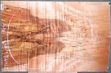 Spalted Curly Maple Wood #5396 Electric Bass Guitar top set  23 x 14 3/4 x 3/4