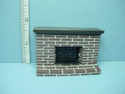 Dollhouse Miniature HALF SCALE 1:24 Brick Fireplace YM0219