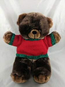 Goffa-Brown-Bear-Plush-Christmas-Knit-Sweater-16-034-Stuffed-Animal
