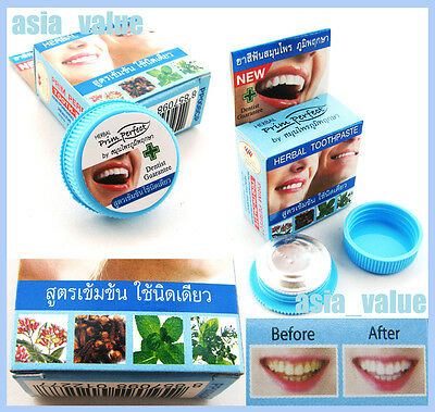 Natural Herbal toothpaste PRIM PERFECT Amazing Thai toothpaste Strong Formula