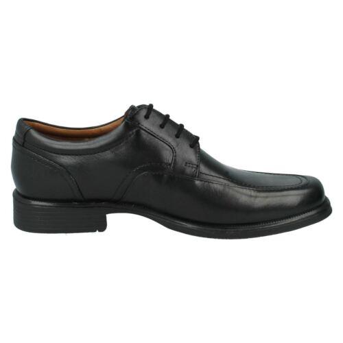 De Negro Cuero Hombre Primavera Clarks Cordones G Huckley Zapatos Ajuste Con wqwFX1Pz