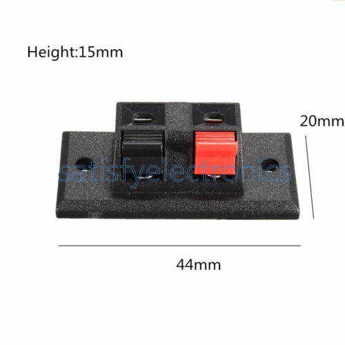 NEW 2P 4P Way Audio Speaker Terminal Double Spring Clip Jack Plug Socket Switch