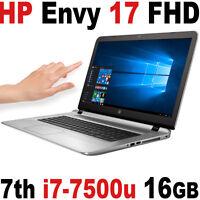 Hp Envy 17 512gb Ssd+ 1tb 16gb I7-7500u 17.3 Fhd Touch Nvidia 4gb Gtx Laptop