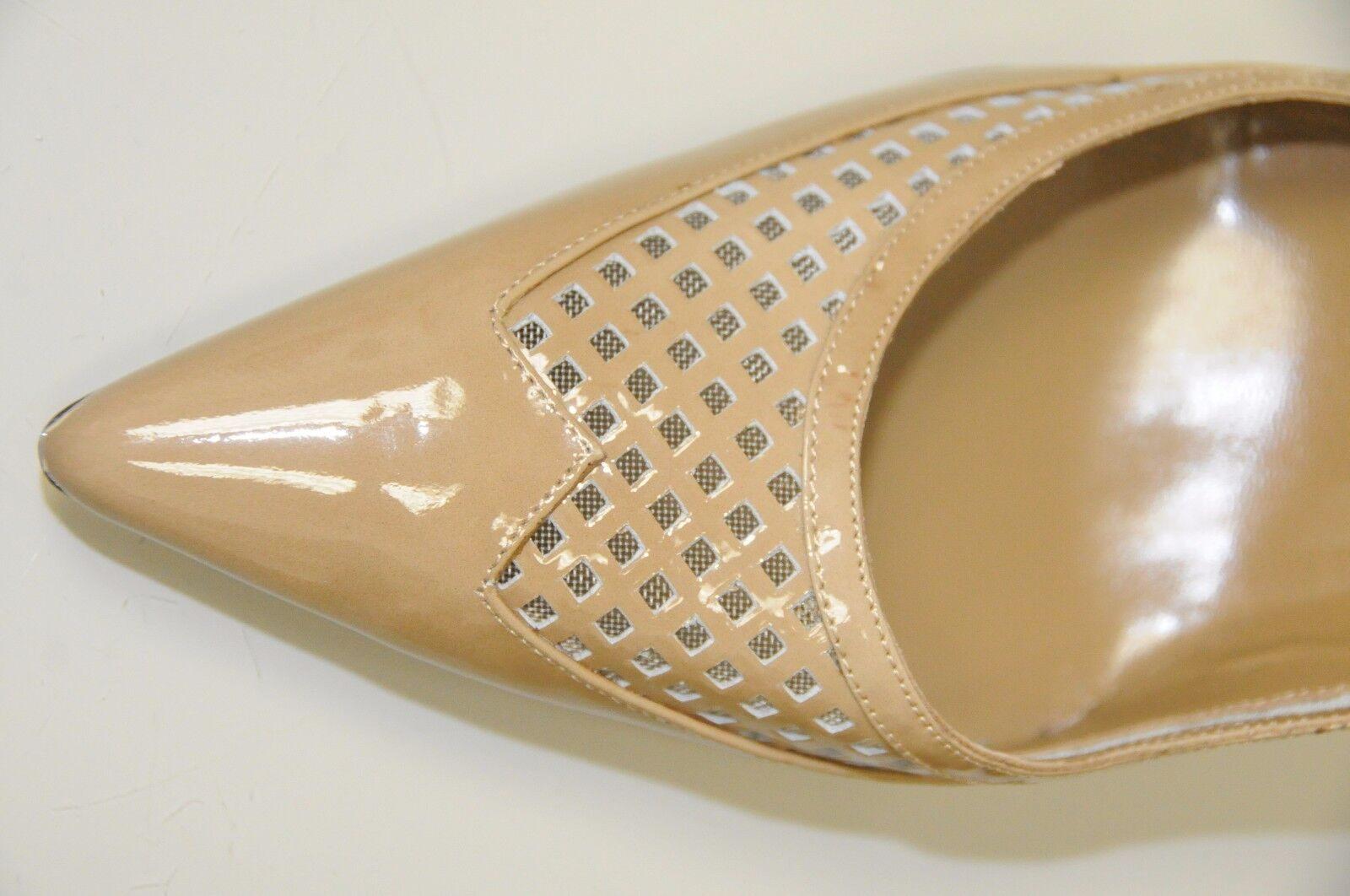 NEW MANOLO BLAHNIK Beige Patent Leather taupe taupe taupe Lt brown SHOES Pumps BB Heels 41.5 1710de
