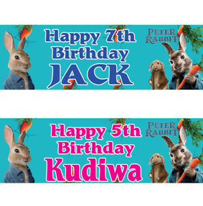 2-personalized-birthday-banner-Peter-Rabbit-Children-kid-party-poster-decoration