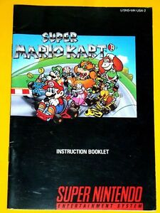 brand new super mario kart instruction book manual only super rh ebay com Mario Kart 1992 Mario Kart 1992