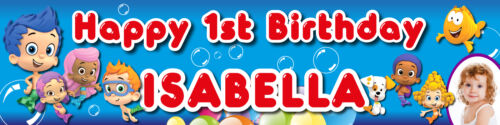 Personalised Bubble Guppies Birthday Party Supplies Decorations