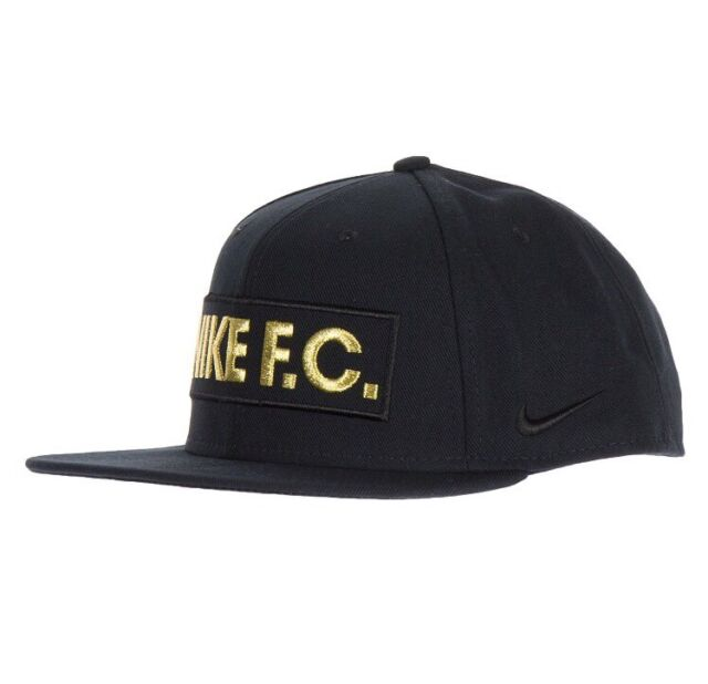 Nike FC Snapback Hat Adult Unisex 1 Size Cap Black Gold True for ... 5bae2a26b78