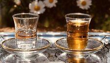 12-tlg Türkisches Tee-Set Esma-Sultan mit Golddekor 6 Teegläser und 6 Untersetze