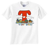 T Is For Train Railroad T-shirt Tee Shirt [156]