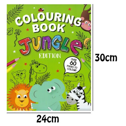 Colouring Kids/'s Set Of 3 Books Jungle Activity /& Stickers Dot To Dot
