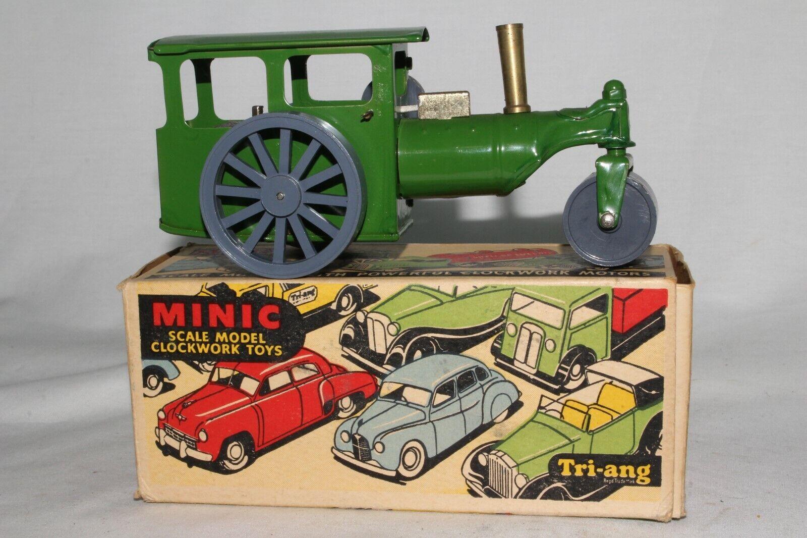 Triang Minic 594ms Dampf Roller Traktor mit Original Kiste, Schön