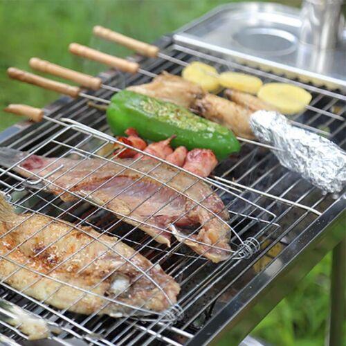 Barbecue Grillkorb Grill BBQ Net Steak Fleisch Fisch Gemüse Halter Werkzeug