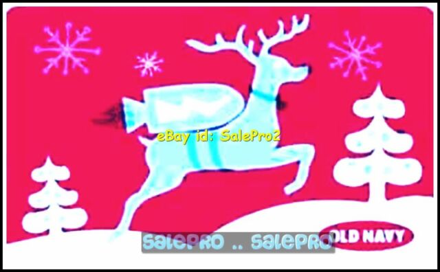 old navy christmas snowflakes rocket reindeer jumping 6003 colectible gift card