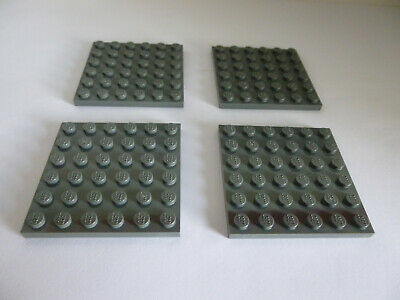 Lego 4x Platte 6 x 6 Blau Blue Plate 3958 Neuware New