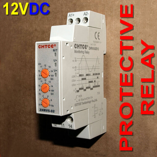12VDC Adjustable Over / Under Voltage Protective Relay