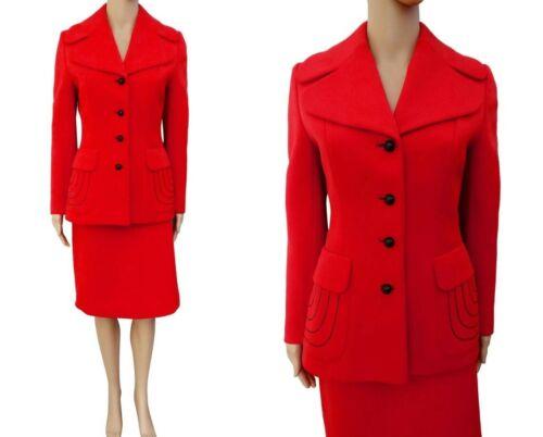 Vintage 1960s Red Lilli Ann Suit, Paris Lilli Ann… - image 1