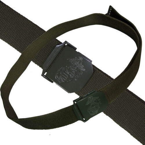USMC Hosengürtel Herrengürtel Gürtel oliv mit Metallschloss Länge bis 130 cm