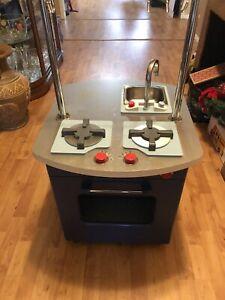 Pottery Barn Kids Kitchen Retro Blue Play Sink Amp Stove Ebay