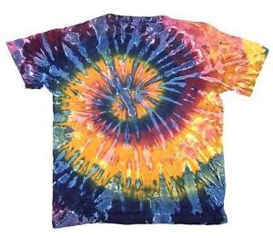 e5e99a098fb2 PETITE MARDI GRA TYE DYED TEE SHIRT unisex SIZE LG hippie tie dye ...