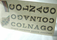 Colnago Decal Set Super Original from The 1980'S Black Vintage Road Bicycle NOS