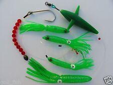 DAISY CHAIN BAIT RIG BULB SQUID & BIRD TUNA MARLIN FISHING TROLLING LURE -GREEN