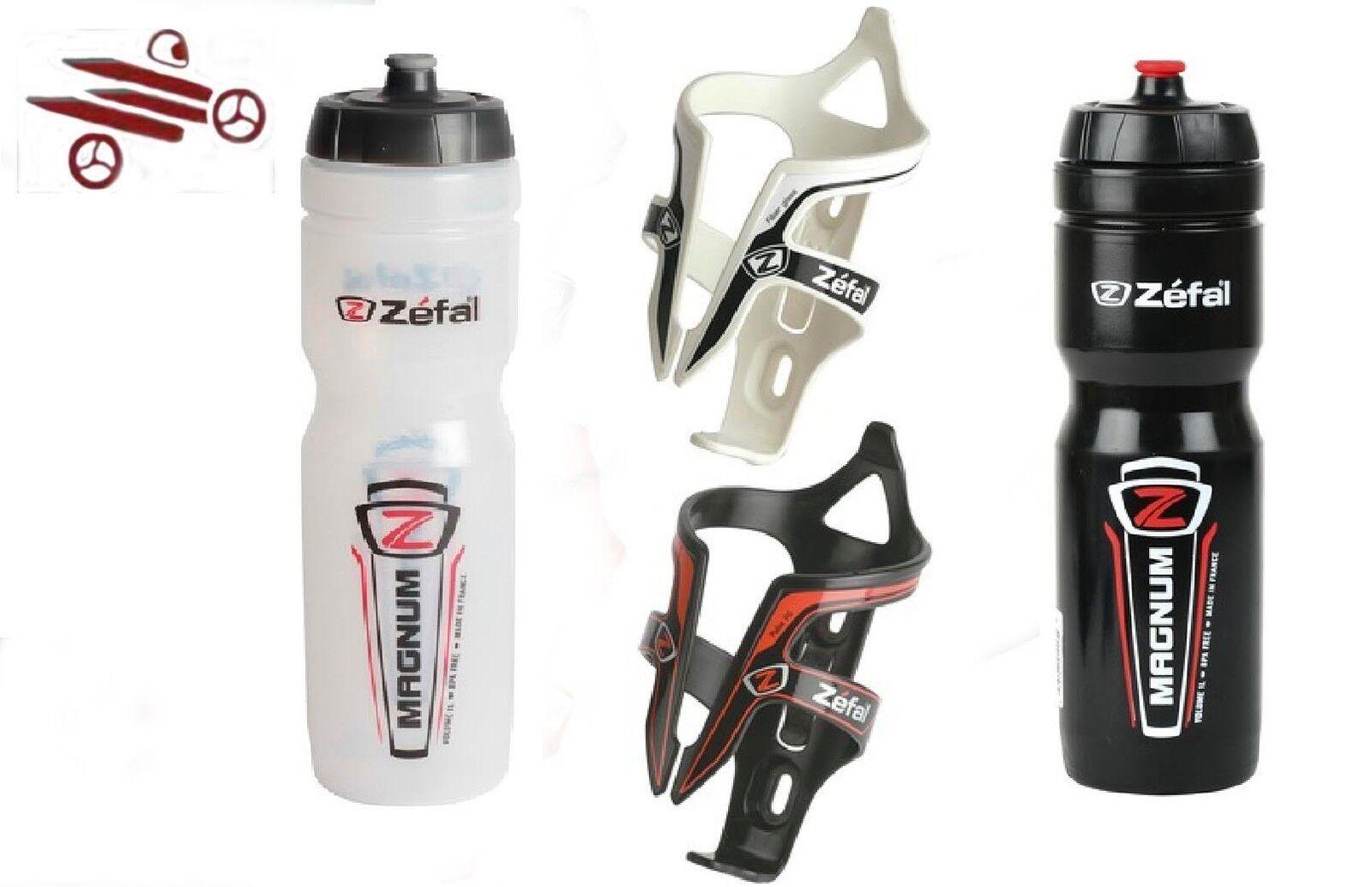 Zefal bicicleta botella botella botella magnum-portabidones vidrio fiber-colores diferentes c00f35