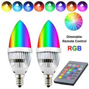 3W-RGB-E12-E14-LED-Light-Bulb-Colour-Changing-Remote-Control-Candle-Bulbs-Lamps