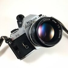 Nikon FG Nikkor 85mm 2 AI Chrome Ancien 24 36 F2 F3 Reflex Argentique Testé SLR
