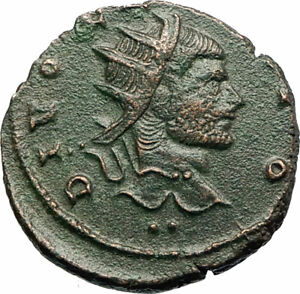 CLAUDIUS-II-Gothicus-270AD-Ancient-Roman-Coin-Eagle-Deification-issue-i77190