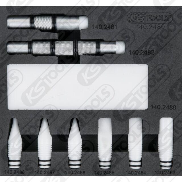 Ks Tools Teflon Rückschlagdorn-satz 140.2480 Carrosserie Ausbeul Outil
