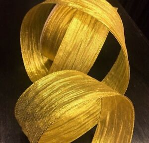 Gift Glitter Extra Wide Wired Christmas Ribbon Decoration NEW 38mm // 63mm