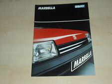 51452) Seat Marbella Prospekt 06/1990