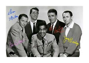 Rat-Pack-A4-signed-photograph-picture-poster-choice-of-frame